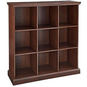 Closetmaid Bookcases 27 In. X 39 In. Mahogany 9-Cube Organizer Brown 14954