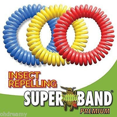 25 Pack of Superband Premium Insect Repellent Bracelet: Assorted Colors
