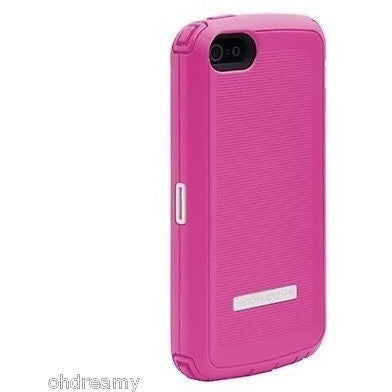 Body Glove Toughsuit Case w/ Holster Belt Clip For iPhone 5/5S Pink/White
