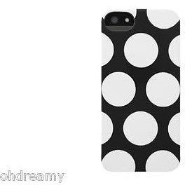 Incase DRB902891-ISWD Snap Case for iPhone 5/5S Black/White Dots
