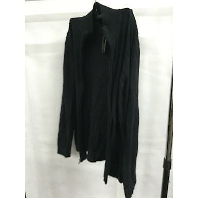 Alfani Black Casual Zipper Sweater Top, Size Small