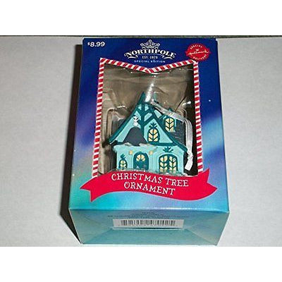 2014 Hallmark Northpole Special Delivery Edition Blue House Ornament