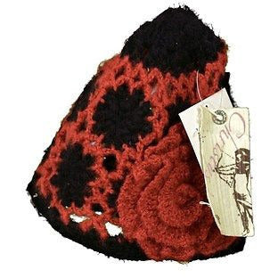 Christys Crown Series Kurai Skully Knit Womens Hats Red Black One Size ~