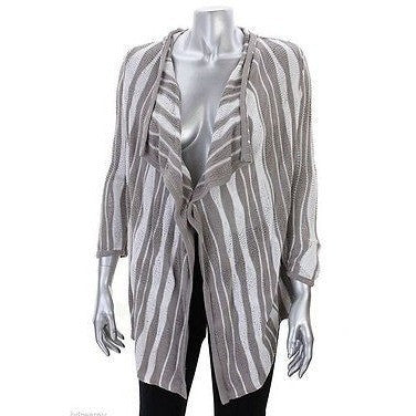 Inc International Concepts Beige Striped Open Front Cardigan, Medium - Oh!Dreamy™ Online Store  - 1
