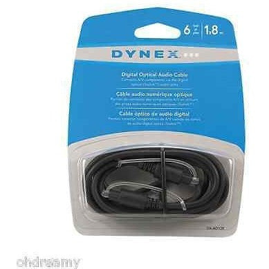 Dynex Dx-Ad128 6 Feet Digital Optical Audio Cable Damaged Package