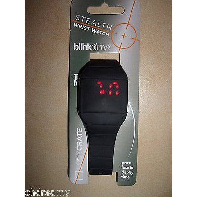Blink Time Stealth Wrist Watch Black