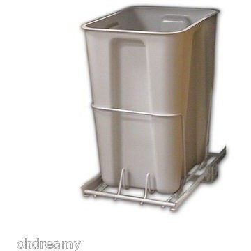 Closetmaid Pull Out Trash Bin, 24-Quart, White , - Oh!Dreamy™ Online Store