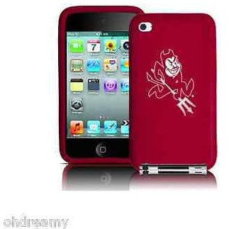 Tribeca Arizona State Sun Devils Ipod Touch 4Th Gen Silicone Case Red Free Ship
