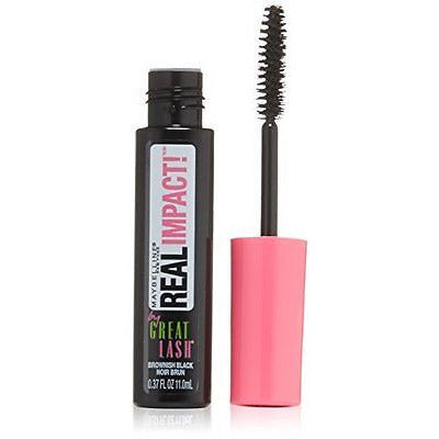 Maybelline  York Great Lash Real Impact Washable Mascara, Brownish Black, 0.