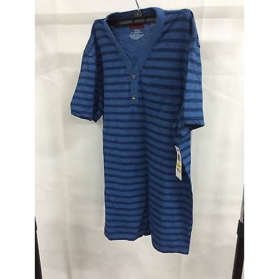 Alfani Blue Slim Fit Striped Shirt Long T-Shirt, Size Medium