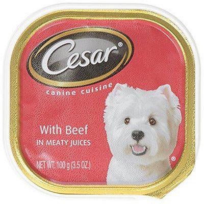 Cesar Select Dinners For Small Dogs With Beef In Meaty Juices