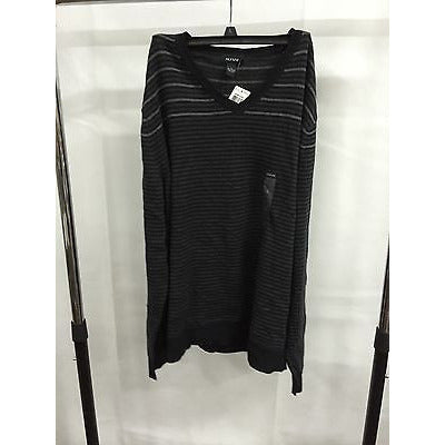 Alfani Black Casual V-Neck Top Sweater, Size L