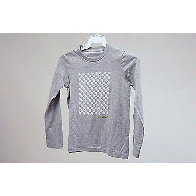 Re:Volve Peace Flock L/S Girls T Shirt Gray Size S