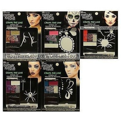 *Fantasy Makers* 5Pc Set Crawl The Line Stencil Kit Halloween Boxed Assorted