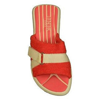 Rachel Avon Fabric Sandal Girls Childrens Shoes Red Size 3