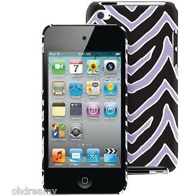 Macbeth Collection Mb iPod Touch 4G Case - Lilac & Black Zebra