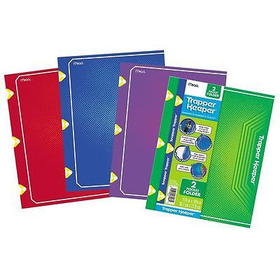 Mead Trapper Keeper 2 Pocket Folders Assorted Colors