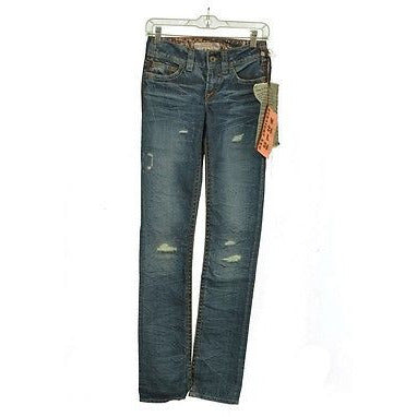 1921 Ls02Usamed Distressed Straight Leg Womens Jeans Medium Wash Size 24