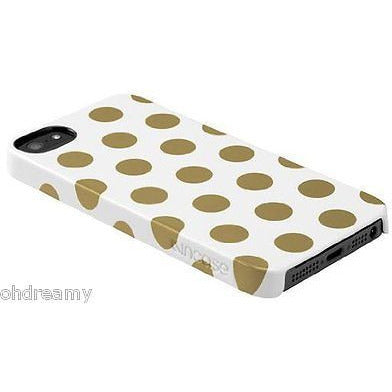 Oem Incase Cl69105 Snap Case For Apple Iphone 5 &Amp;Amp; 5S - White/Gold Dots