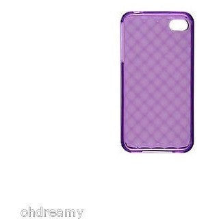 Rocketfish Cavt2Udm Mobile Soft Shell Tpu Gel Case For Apple Iphone 4/4S Purple
