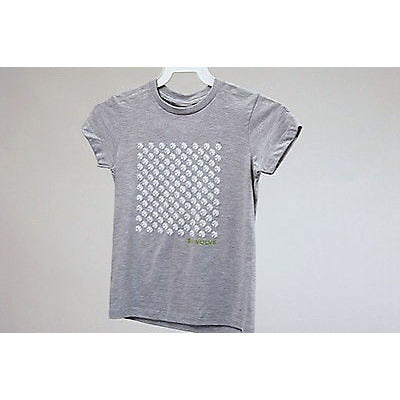 Re:Volve Peace Flock S/S Girls T Shirt Gray Size S