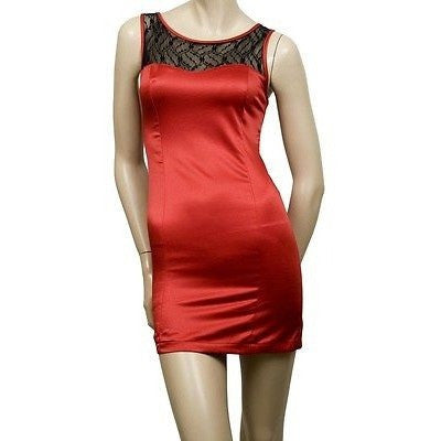 Final Touch Lacey Sleeveless Eve Womens Dresses Red Size L ~