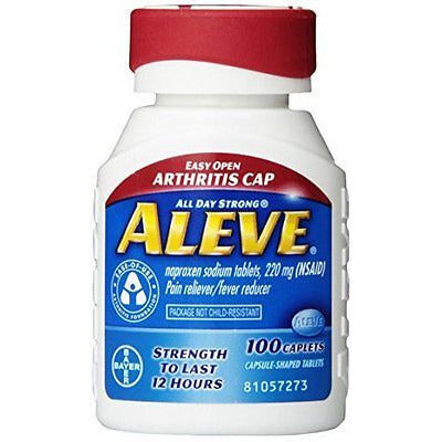 Aleve Caplets With Easy Open Arthritis Cap, 220 Mg, 100 Count - Oh!Dreamy™ Online Store