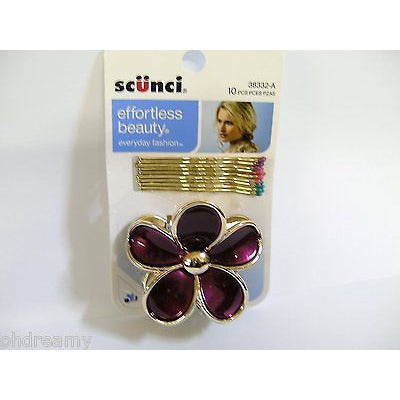 Scunci Effortless Beauty 10Pk Bobbies & Jawclip