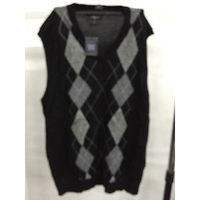 Club Room Black Casual Sleeveless Top Men'S Sweater, Size Xl