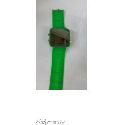 Led Watch With Silicone Band - Green