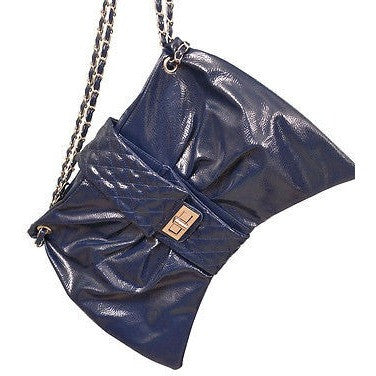 Generic Bow Shape Womens Purses Navy Blue Size Medium