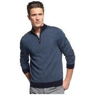 Club Room Merino Sweater, 14 Zip Cedar Stripe Sweater Large Size