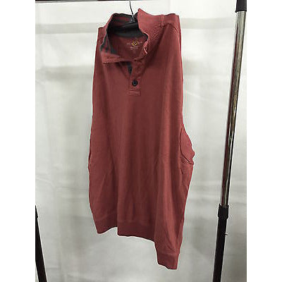 Club Room Red Casual Longsleeve Top Button  Down Men'S Sweater, Size M