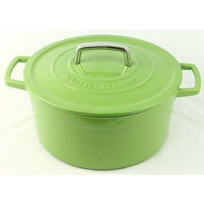 Green Enameled Cast Iron 6 Qt. Round Dutch Oven Casserole