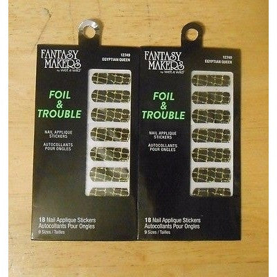 Fantasy Makers Foil & Trouble Nail Stickers 12749 Egyptian Queen