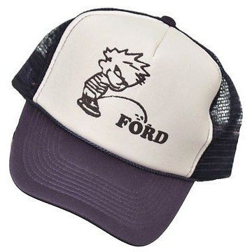 Otto Ford Golf Style Trucker Mens Hats Navy Blue One Size