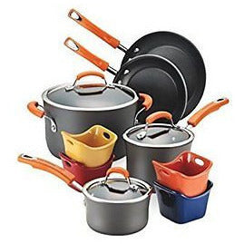 Rachael Ray Hard-Anodized Nonstick 12-Piece Cookware Set - Oh!Dreamy™ Online Store
