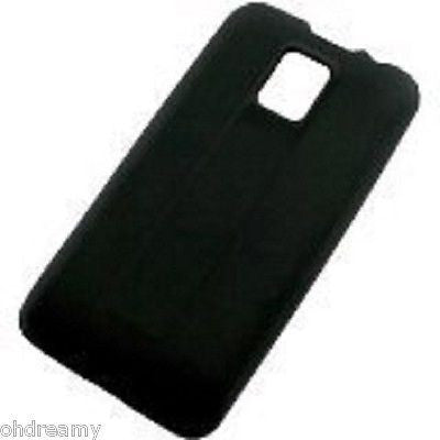 Silicone Cover For Samsung Captivate Mobile Phones - Black