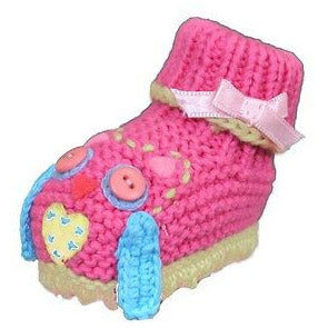Artwalk Girls Hoot Hoot Knit Booties Baby Shoes Pink Size 0-6 Months