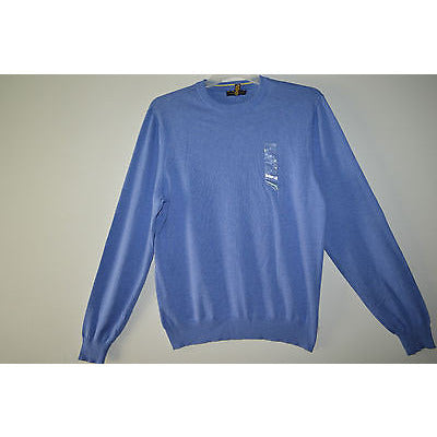 Club Room Sweater, Cotton Crew Neck Swea Flag Blue M   Msrp $$24.99