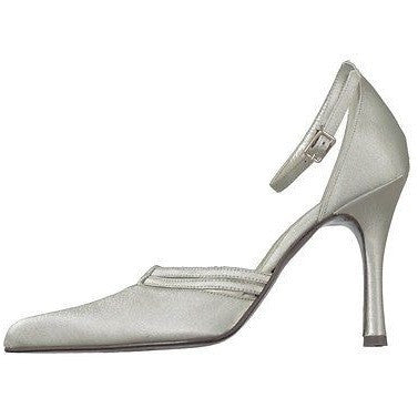 Ferretti 734 Crepe Sateen Ankle Strap Womens Shoes Silver
