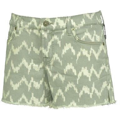 7 For All Mankind Carlie Au512081A Womens Shorts Ming Green Size 30 ~