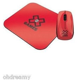 X Digital MediaX Games Optical Cable Mouse And Pad (Red) - Oh!Dreamy™ Online Store