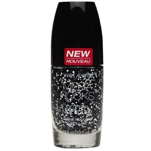 (6 Pack) WET N WILD Megarocks Glitter Nail Color - Gettin' Amped