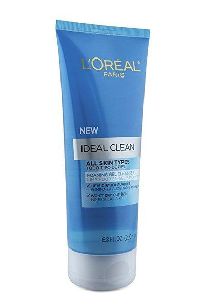 L'Oreal Paris Ideal Clean Foaming Gel Facial Cleanser, All Skin Types