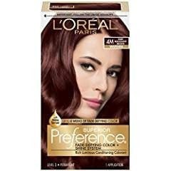 L'Oreal Preference Permanent Haircolor, Warmer, Dark Mahogany Brown 4M 1 c