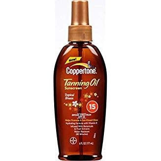 Coppertone SPF 15 Tanning Dry Oil, 15 Count