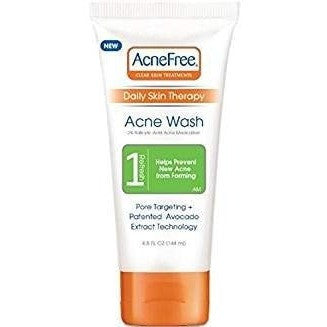 AcneFree Clear Skin Treatment Daily Skin Therapy Acne Wash, 4.8 fl Oz (Pack of 2)