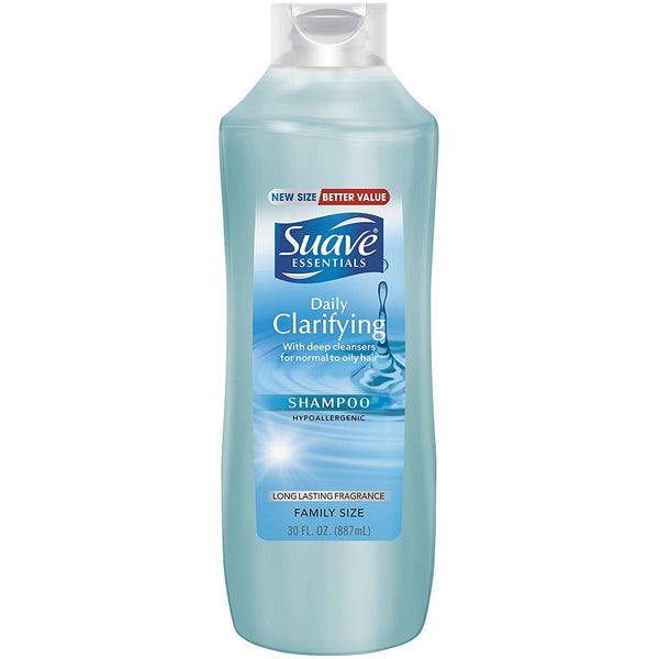 Suave Essentials Shampoo, Daily Clarifying, 30 Ounce (Pack of 6)