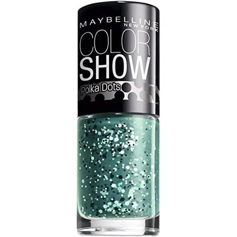 (2 Pack)-Maybelline New York Color Show Nail Lacquer, Polka Dots -55 Drops of Jade.